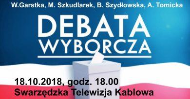 Debata  z 18. października. Zobacz tutaj