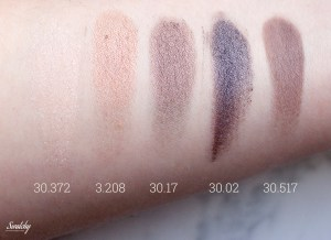 Artdeco eyeshadows, shimmers and one matte
