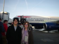 boarding the plane to Warsaw in Heathrow