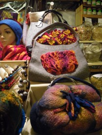 felted bags at the art market