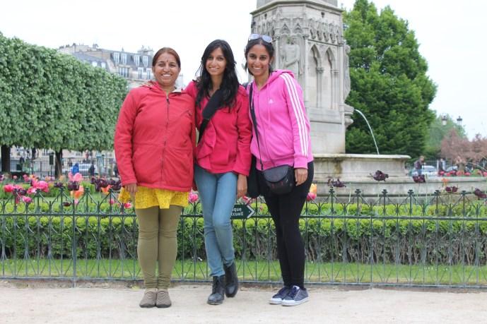 My mum, sister and me.