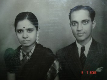 Tatha and paati just after they were married. : )