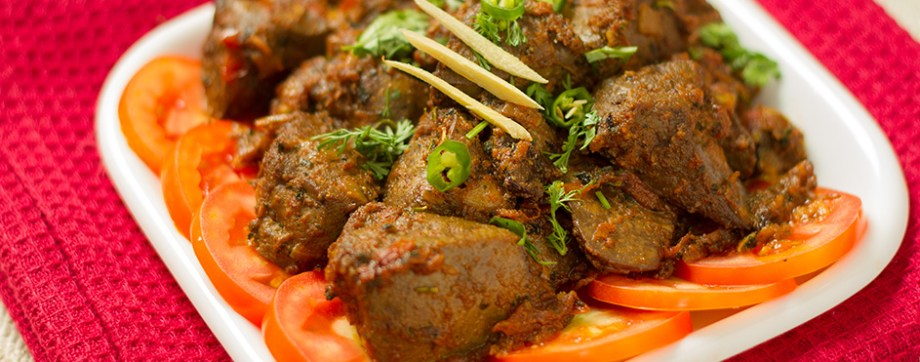 Kaleji Masala - Goat liver fried in spices
