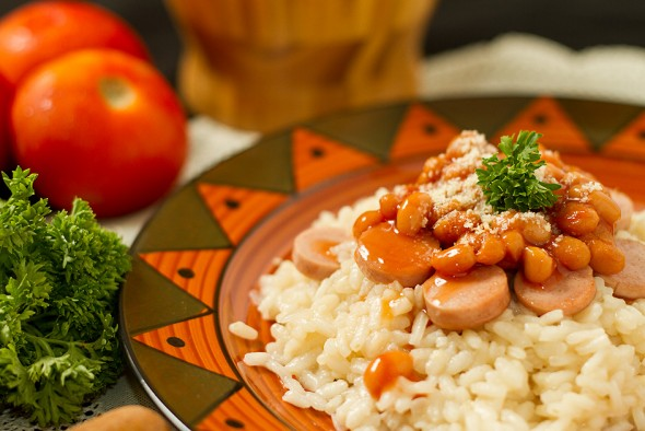 Baked Beans Risotto
