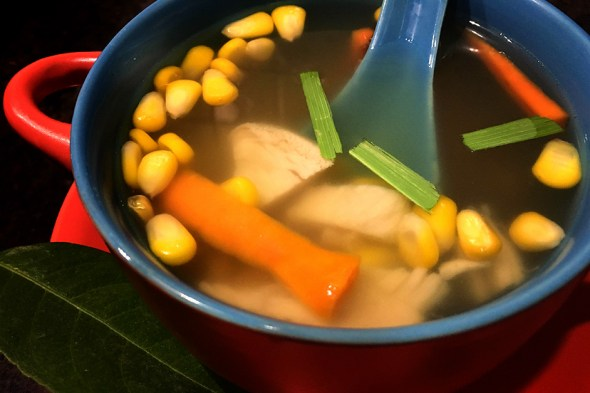 Clear Chicken Soup with Lemon Grass