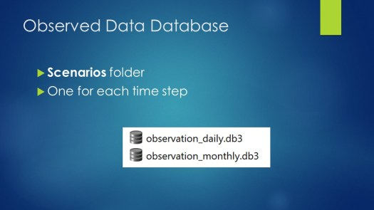 Observed Data Database