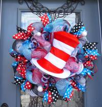 Dr. Seuss Cat in the Hat Wreath  Home Decor Wreaths ...