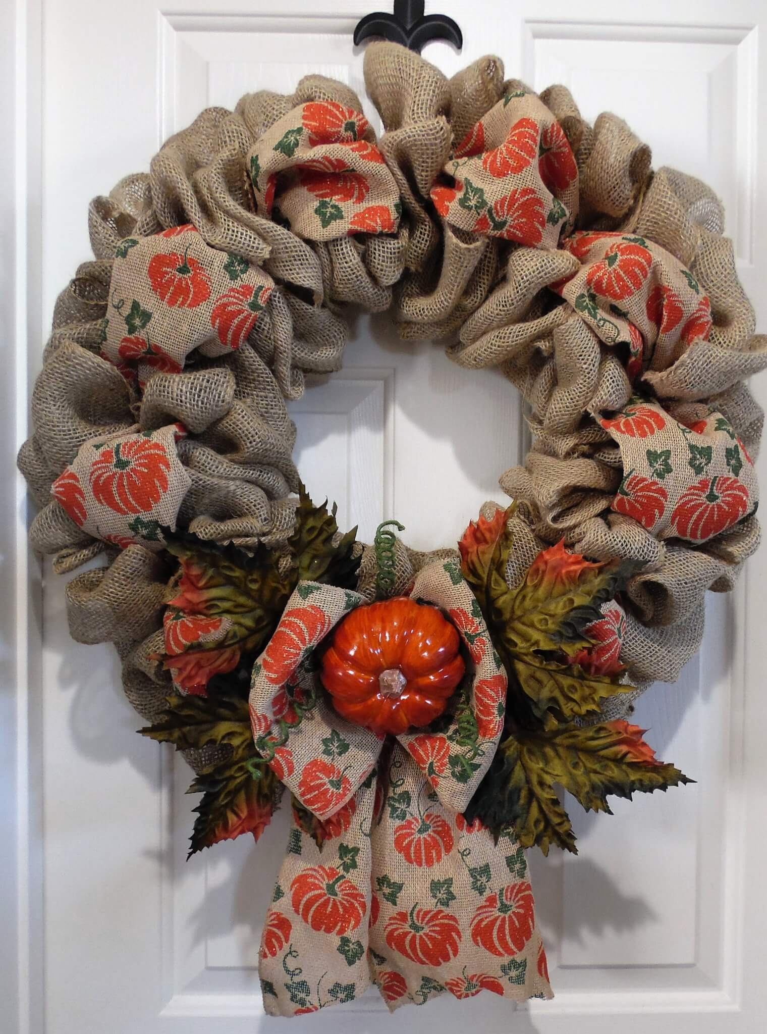 Fall Pumpkin Wreath Home Decor Wreaths Garland