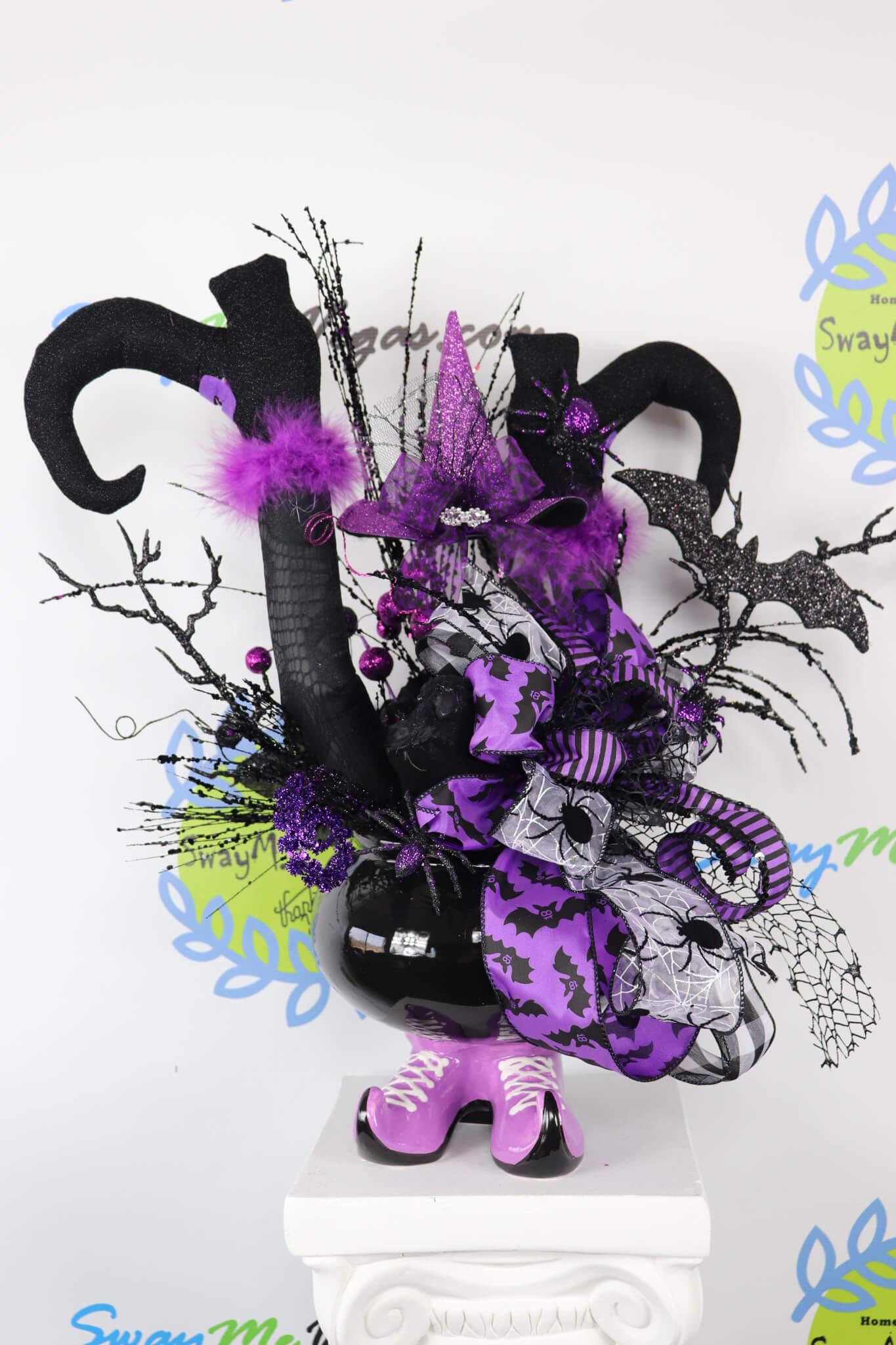 Witch Cauldron Centerpiece 2018  Home Decor Wreaths