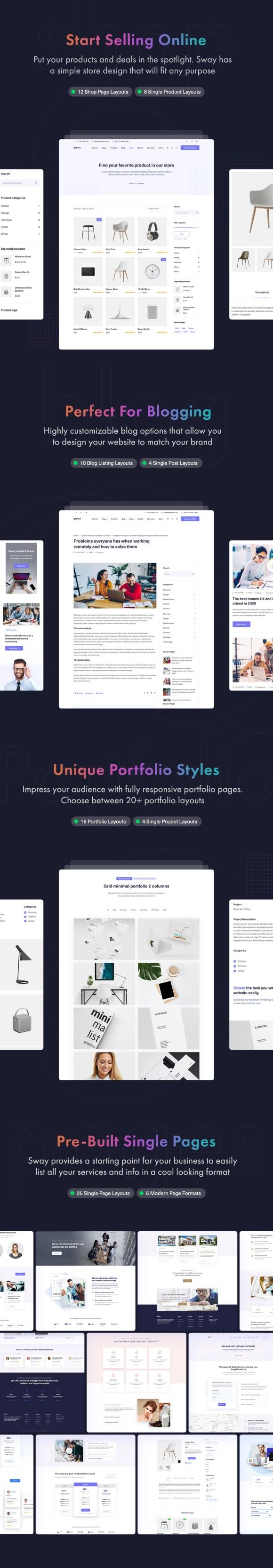 Sway - Multi-Purpose WordPress Theme with Page Builder - 16