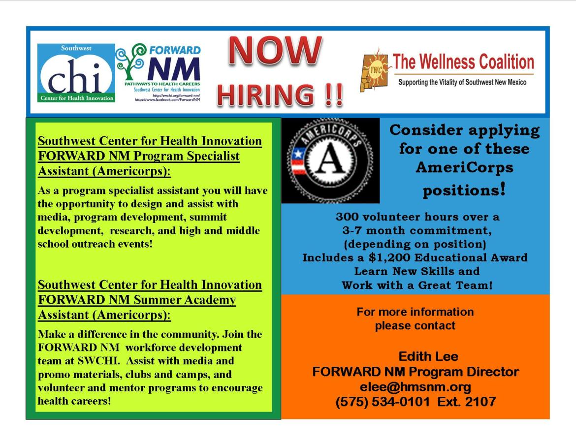 Advertisement for Open Positions - Americorps 2015 (2)