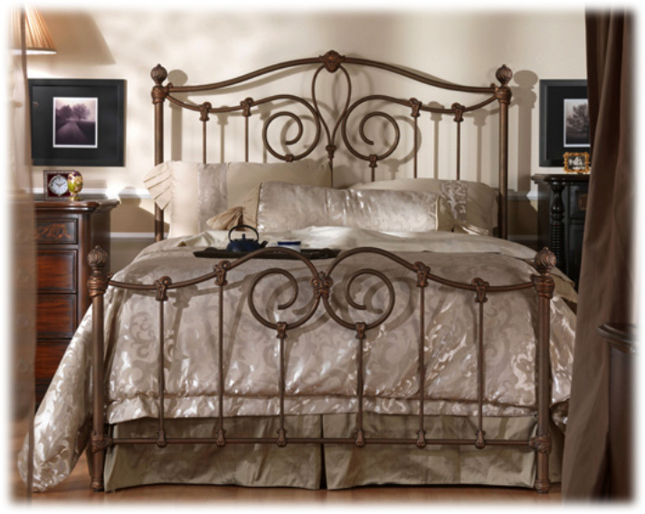 Wesley Allen Iron Beds Queen Complete Aspen Headboard And