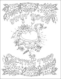 Adult Curse Word Coloring Coloring Pages