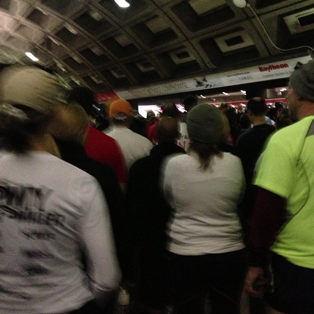 30,000 runners at the Pentagon Metro stop.