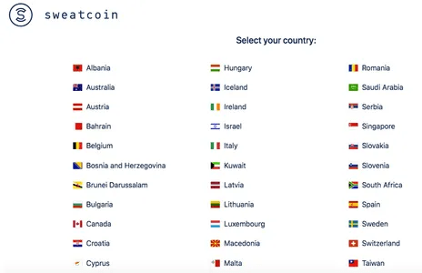 Sweatcoin Countries Available | SweatcoinBlog