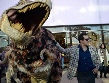John Leguizamo and a dino friend