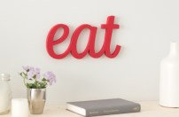 Wordbilly Eat sign