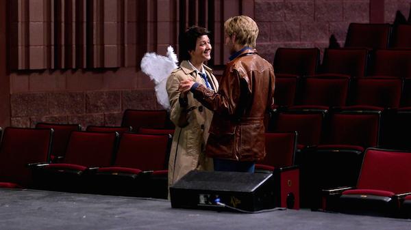 14 Supernatural Season Ten Episode Five SPN S10E5 Fan Fiction Play Cast Destiel Dean Winchester Castiel Girl Alyssa Lynch Nina Winkler 200th Episode
