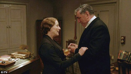 Downton Abbey Christmas Special Carson and Mrs Hughes