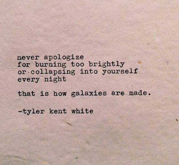Hubble Typewriter Poem by Tyler Kent