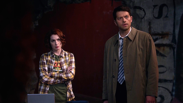 10 Supernatural Season Ten Episode Twenty One SPN S10E21 Dark Dynasty Charlie Bradbury Felicia Day Misha Collins Castiel