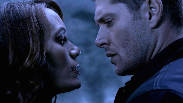 19 Supernatural SPN Season Eleven Episode One S11E1 Out of the Darkness Into the Fire Jensen Ackles Emily Swallow Dean Winchester the Darkness