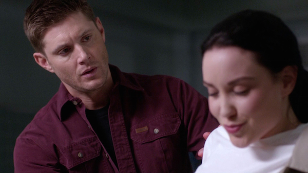 6 Supernatural SPN Season Eleven Episode One S11E1 Out of the Darkness Into the Fire Jensen Ackles Dean Winchester Jenna Nickerson Laci J Mailey