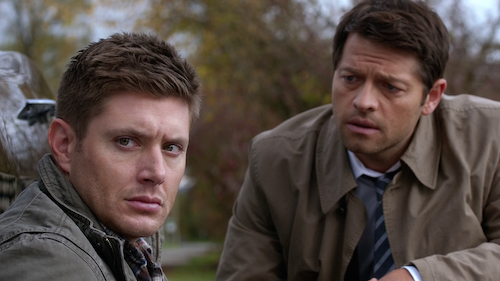 4 Supernatural SPN Season Eleven Episode Ten S11E10 The Devil in the Details Dean Winchester Castiel Jensen Ackles Misha Collins