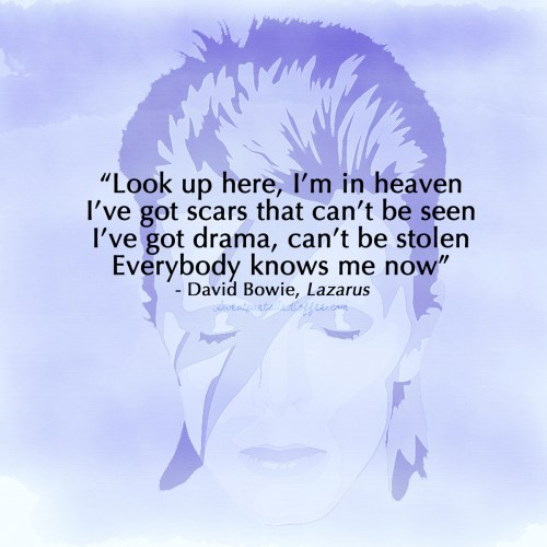 David Bowie quote Lazarus