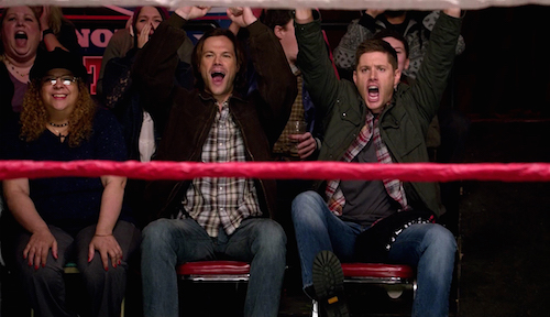5 Supernatural SPN Season Eleven Episode Fifteen S11E15 Beyond the Mat Sam Dean Winchester Jared Padalecki Jensen Ackles