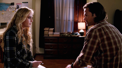5 Supernatural Season Eleven Episode Twelve SPN S11E12 Forget About Me Sam Winchester Claire Novak Jared Padalecki Kathryn Love Newton