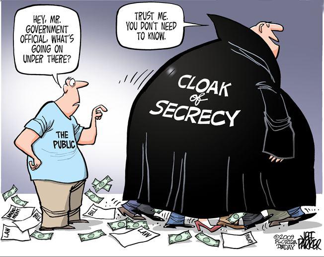 Photo 1. S&C Freedom of Information – secrecy