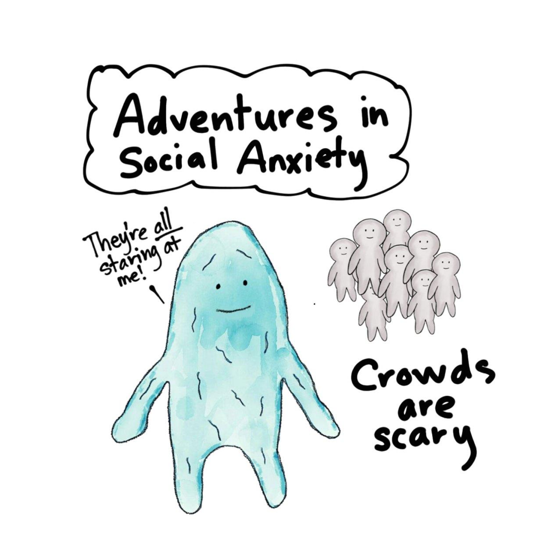 Anxiety Blob social anxiety