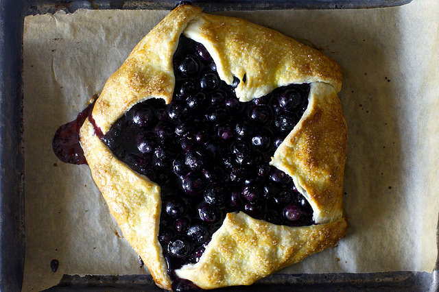 Blue and Red Berry Ricotta Galette from Smitten Kitchen