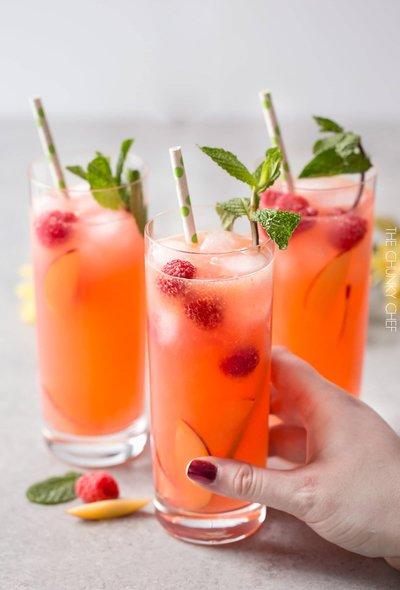 Photo 1 – Homemade Raspberry Peach Lemonade