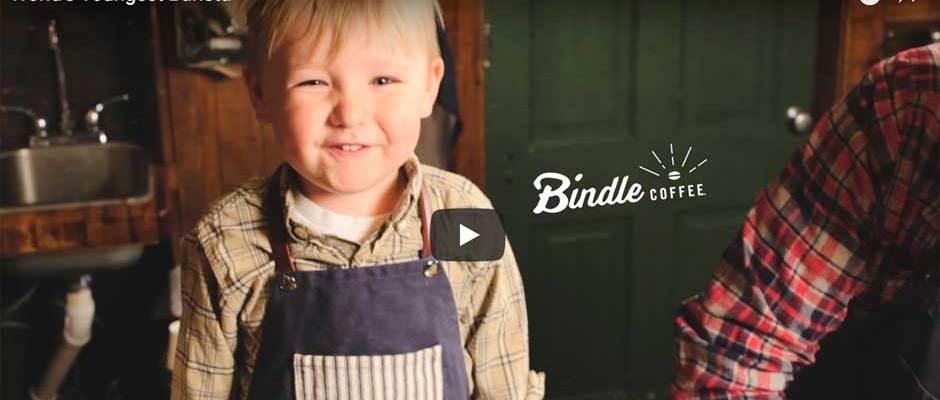 Adorable toddler barista