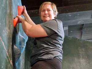 Kelly Wilson, rock climbing