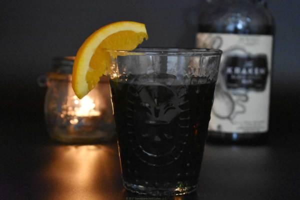 Drunken Pirate Punch cocktail with Kraken rum