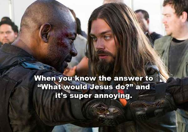 The Walking Dead TWD s8e2 The Damned Morgan Jesus