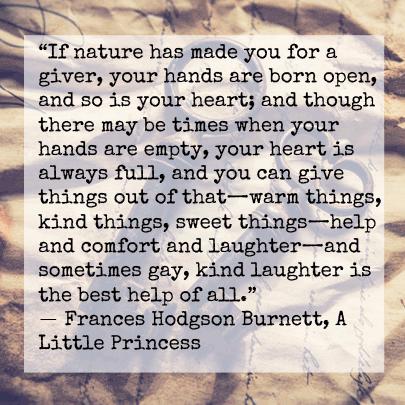Frances Hodgson Burnett kindness quote