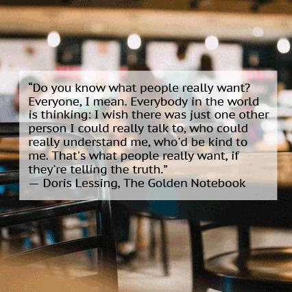 Doris Lessing kindness quote
