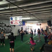 Fight Club-donation Boot Camp in honor of a friend's fight against Breast Cancer.