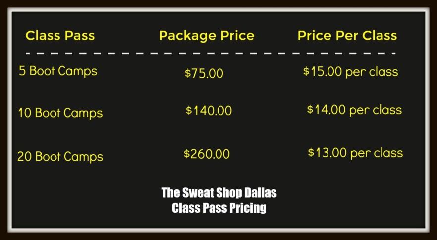 SS Class Pass pricing