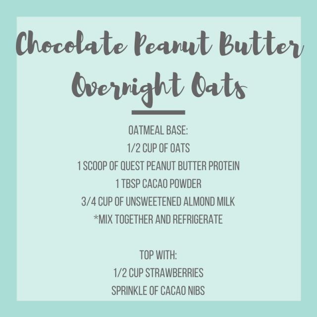 Chocolate Peanut Butter Overnight Oats