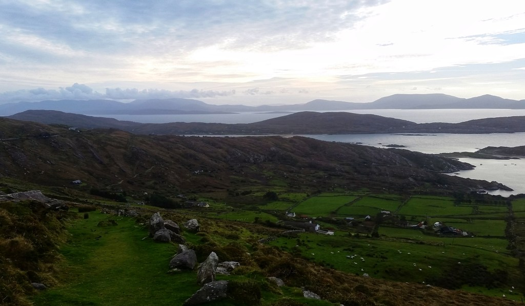 Taken before descending into Derrynane National Park, near Caherdaniel. Sara Weaver, Oct. 2017.
