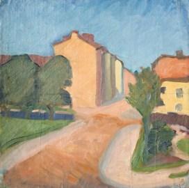 Ivan Agueli, Cityscape / Stadsbild (1892)