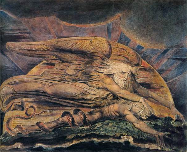 William Blake, The Elohim Creating Adam (1795)