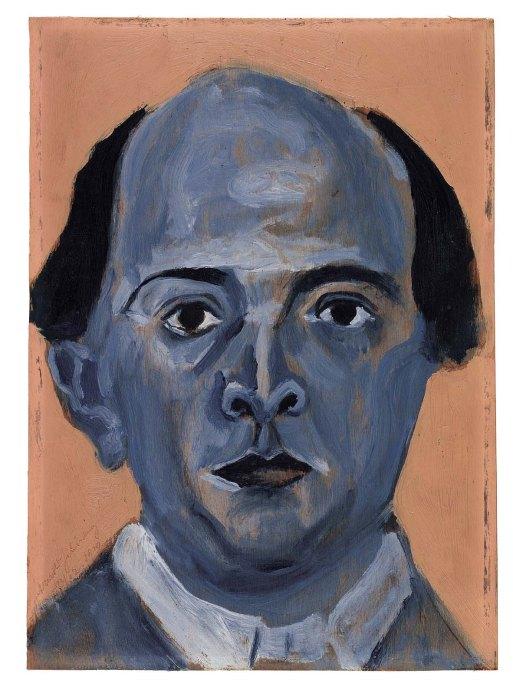 Arnold Schoenberg, Blaues Selbstbildnis / Blue Self-Portrait (1910)