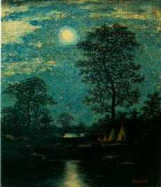 Ralph Albert Blakelock, Teepees in the Moonlight (unknown date)