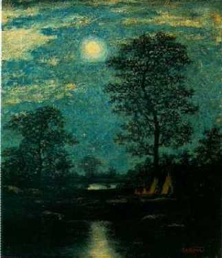 Ralph Albert Blakelock, Teepees in the Moonlight (unknown date)